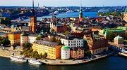 Изысканный город на воде - яркий Стокгольм